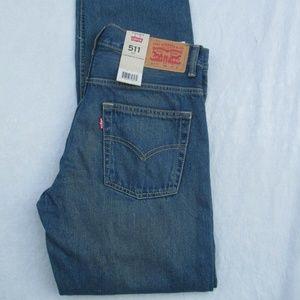 Levis 511 Boys 91R511 A15 Jeans Slim Medium Denim